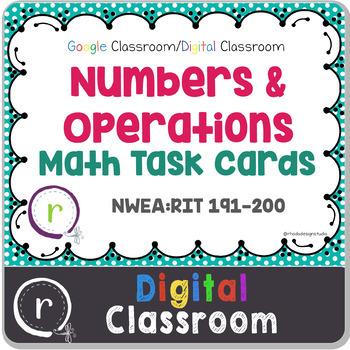 Digital Classroom Numbers & Operations Math Test Prep RIT
