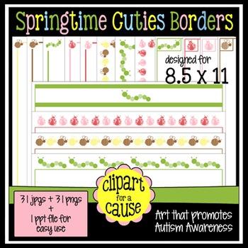 Digital Clip Art Frames: 31 Springtime Cuties Bug Borders