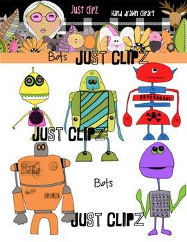 Digital Clip art - Bots - Robots
