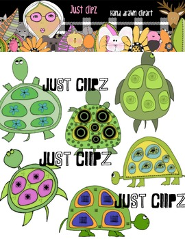 Digital Clip art Turtles