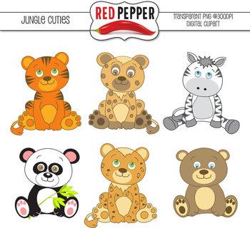 Clipart - Jungle Cuties