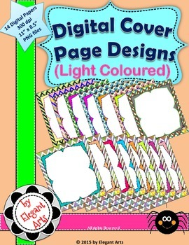 Digital Cover Page Designs - Light Coloured