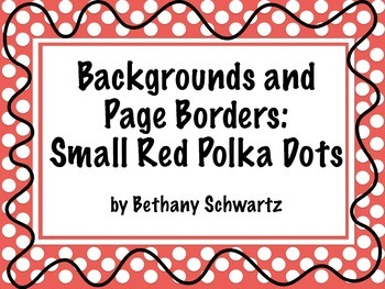 Digital Cover Page and Background: Small Red Polka Dot