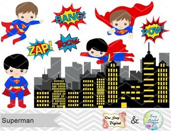 Digital Cute Superman Clip Art Superhero Clip Art Superman