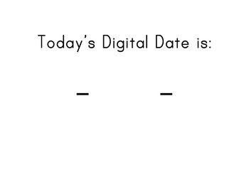 Digital Date Flip Cards for Calendar Display