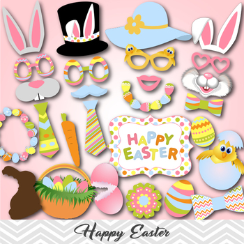 Digital Easter Photo Booth Props Easter Photobooh Props Ea