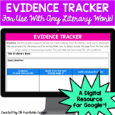 Digital Evidence Tracker Graphic Organizer