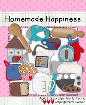 Digital Felt Art: Homemade Happiness