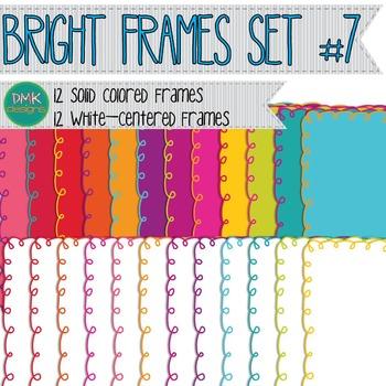 Digital Frames- Bright Doodle Frames
