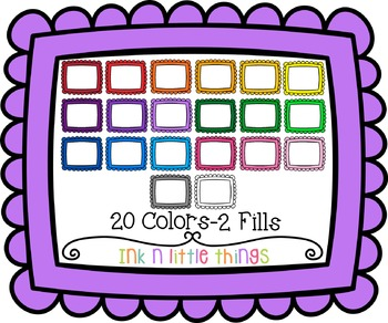 Digital Frames - Colorful Scallops Style 1 - Color Match Frames