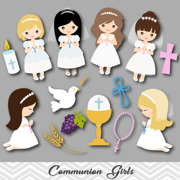 Digital Girl First Communion Clip Art, Girl First Communio