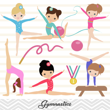 Digital Girls Gymnastics Clip Art Gymnastic Girl Clip Art