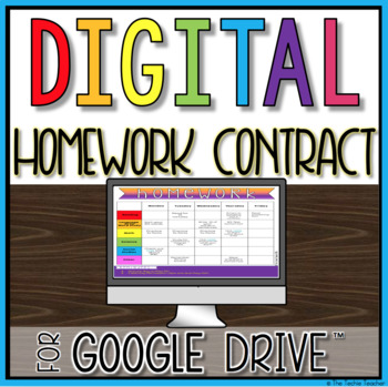 Digital Homework Contract in Google Slides