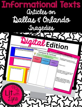 Digital Informational Paired Text Articles on Dallas & Orl