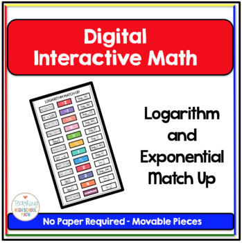 PreCalculus Digital Interactive Math Logarithm and Exponen