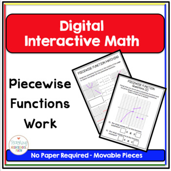 Pre Calculus Digital Interactive Math Piecewise Functions