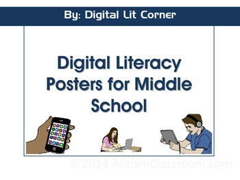 Digital Literacy Posters- Middle School Set