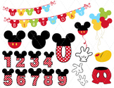 Digital Mickey Mouse Clip Art Mickey Mouse Party Mickey Mo