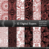 Digital Paper A4 Journal Abstract Layout Floral Printable