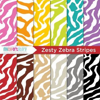 Digital Paper - Animal Print / Zebra Stripes Print