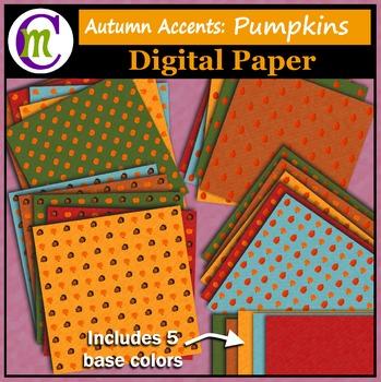 Digital Paper ♦ Autumn Accents ♦ Pumpkins