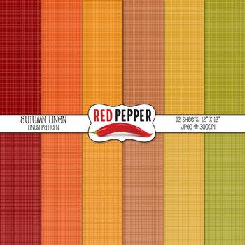 Digital Paper / Patterns - Autumn Linen