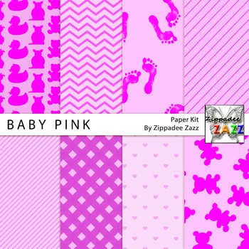 Baby Pink Digital Paper or Backgrounds