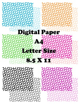 Digital Paper Background A4 8.5X11 small dots