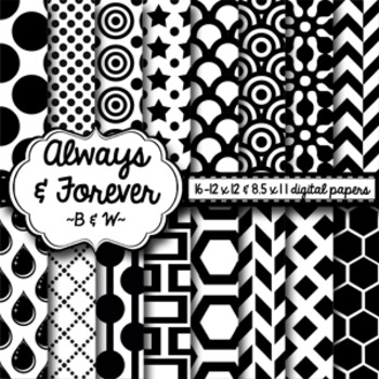 Digital Paper Black and White