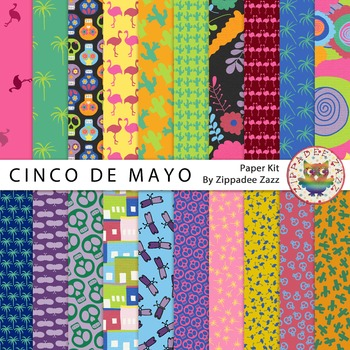 DOLLAR DEAL Digital Paper / Background - Cinco De Mayo / M
