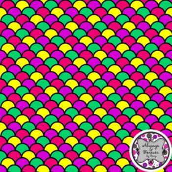 Digital Paper Background FREEBIE Scallops