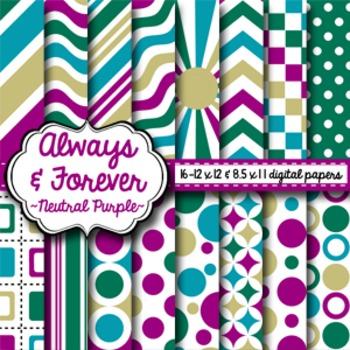 Digital Paper Neutral Purple