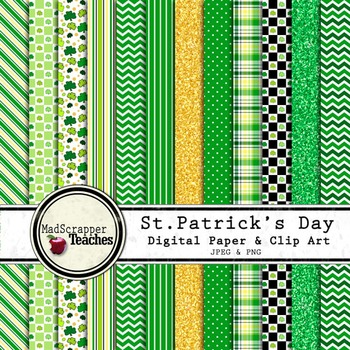 Digital Paper Background Pack St. Patrick's Day Papers