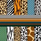 Digital Paper Background Pack Wild Animal Prints
