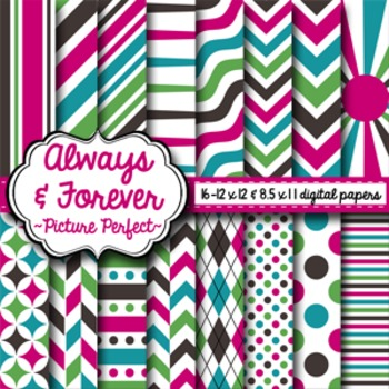 Digital Paper Picture Perfect