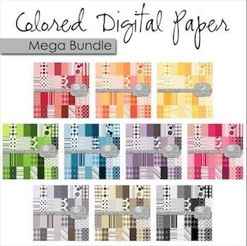 Digital Paper Backgrounds: Mega Bundle