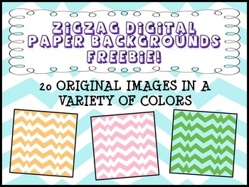 Digital Paper Backgrounds and Frames : Zigzag - 20 backgrounds