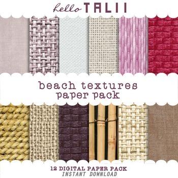 Digital Paper: Beach Textures