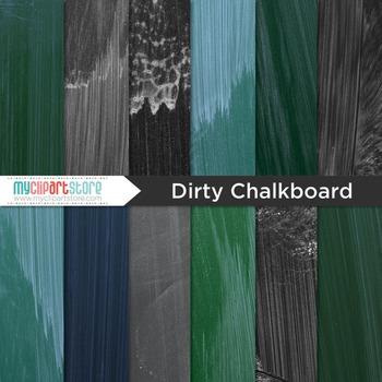 Digital Paper Texture - Blackboard / Dirty Chalkboard (school)