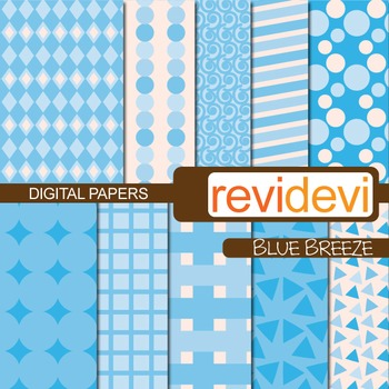 Digital Paper Blue Breeze