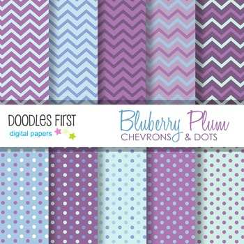 Digital Paper - Blueberry Plum great for Classroom art projects
