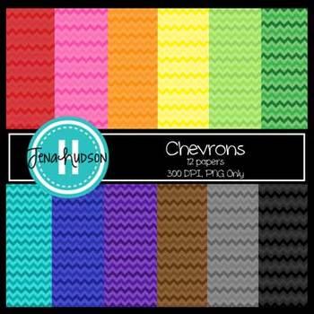 Digital Paper ~ Bright Chevrons