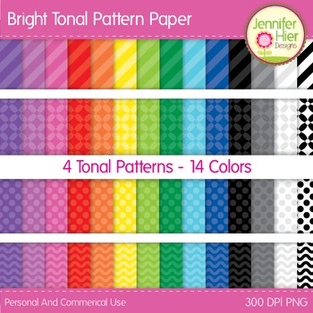 Digital Paper: Bright Tonal Patterned Digital Paper for TP