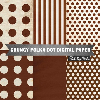 Digital Paper - Brown Grungy Backgrounds