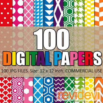 Digital Paper Bundle (100 Papers)