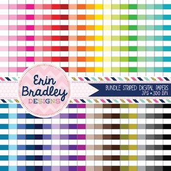 Digital Paper Bundle - Horizontal Stripes
