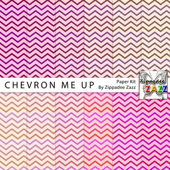 Digital Paper - Chevron Me Up - 12 Papers
