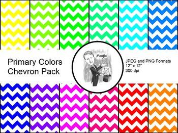 Digital Paper - Chevron Primary Colors