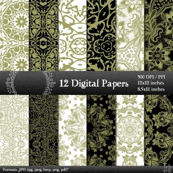 Digital Paper Collag Scrap Booking Art Graphics Digital Ma