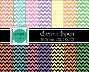 Digital Paper / Digital Background - Chevron